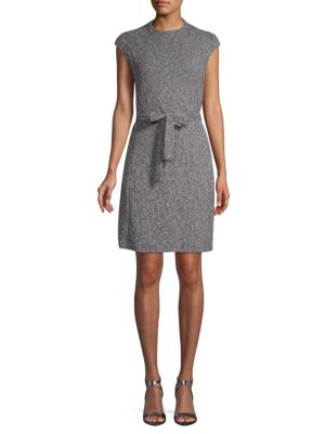Ellen Tracy Textured Cap-Sleeve Sheath Dress