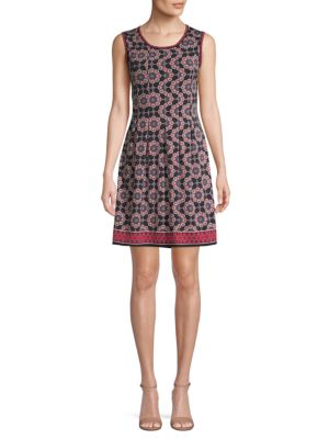 Max Studio Geometric-Print A-line Dress