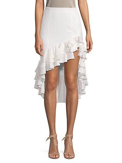 251c4f42a Caroline Constas High-Low Ruffle Skirt ...