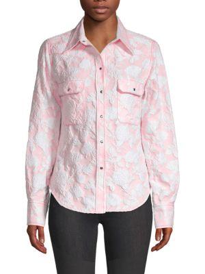 Calvin Klein Downs Long-Sleeve Floral Button-Down Shirt