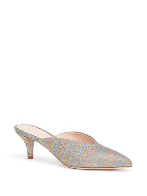 be88b98785 Loeffler Randall Women's Juno Glitter Stripe Kitten Heel Mules In ...