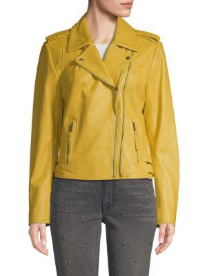 Joie Jackets Notch-Collar Leather Moto Jacket
