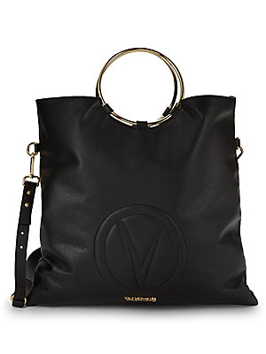 Celia Pebbled Leather Tote by Valentino By Mario Valentino
