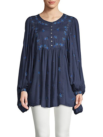 986609c906 Free People Kiss From A Rose Embroidered Top