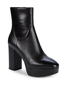 아쉬 부츠 ASH Amazon Leather Platform Booties,BLACK