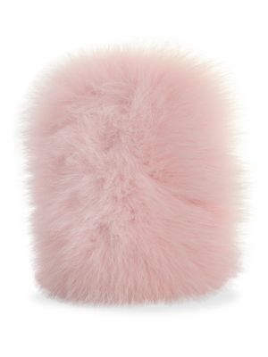 WILD AND WOOLLY Fox Fur Iphone 7 Case in Pink
