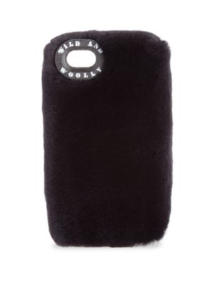 WILD AND WOOLLY Mink Fur Iphone 7 Case in Midnight Blue