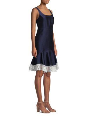Draper James Satin Flounce Dress