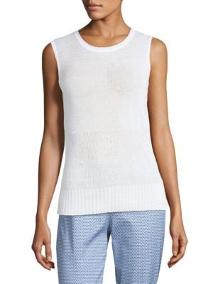 Piazza Sempione Sleeveless Linen Knitted Top