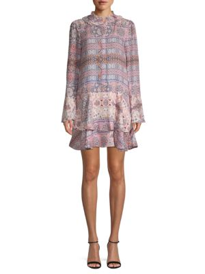 Parker Graphic Long-Sleeve Shift Dress