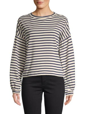 Parker Striped Cotton Sweatshirt