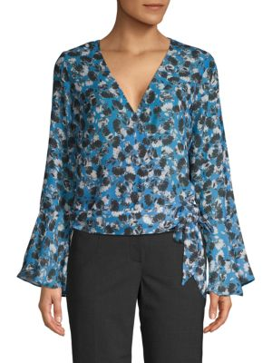 Parker Floral-Print Long-Sleeve Top
