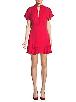 QUICK VIEW. Parker. Natalie Tiered Silk Dress fb5e08fc5
