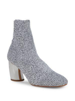 Proenza Schouler Boots Metallic Curved Heel Sock Booties