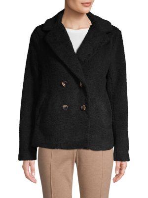 SANCTUARY Free Spirit Faux Shearling Coat in Black