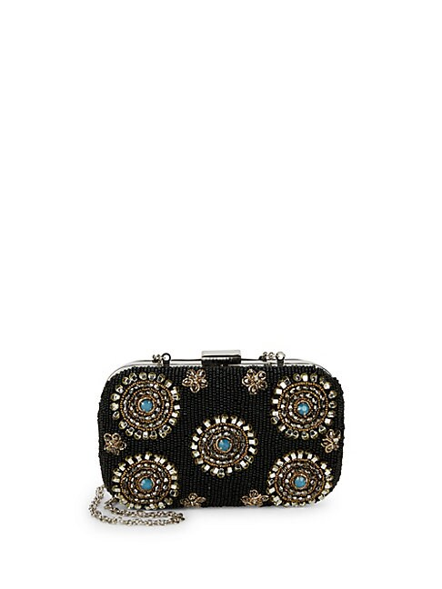 CIRCUS BY SAM EDELMAN | Floral Bead Embellished Convertible Clutch | Goxip
