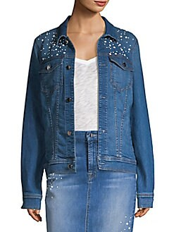 3b98bc19 QUICK VIEW. 7 For All Mankind. Embellished Denim Jacket