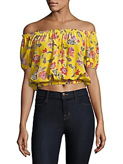 f89707f2911708 QUICK VIEW. Joie. Derfuta Floral Cropped Top