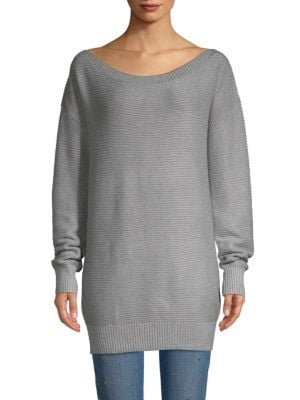 John & Jenn Textured Off-The-Shoulder Sweater Dress