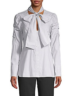 5e61bf0bcb89e QUICK VIEW. BCBGMAXAZRIA. Striped Bow Top