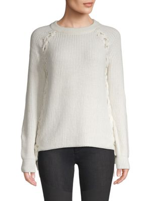Lost + Wander Reina Lace-Up Sweater