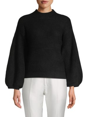 Lost + Wander Cabernet Blouson Sleeve Sweater