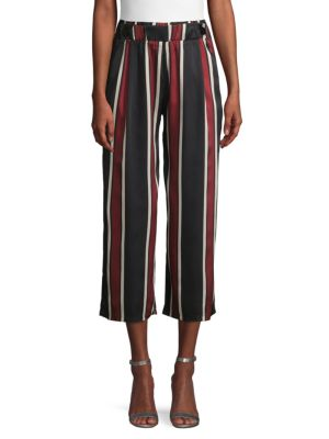 Haute Rogue Striped Cropped Pants