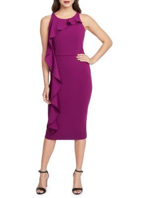 Rachel Rachel Roy Jade Ruffled Sheath Dress