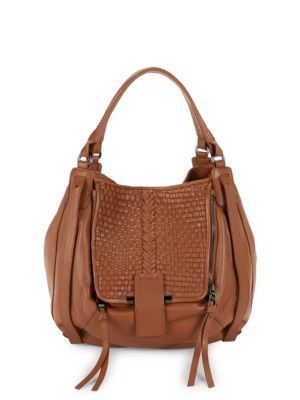 Kooba Basket Woven Leather Shopper Bag