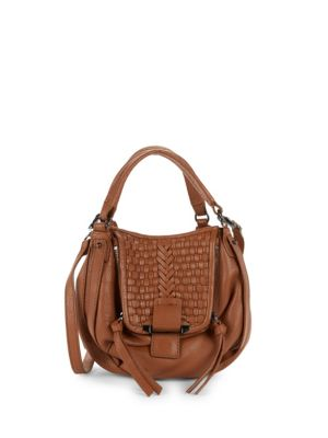 Kooba Basket Woven Leather Hobo Bag