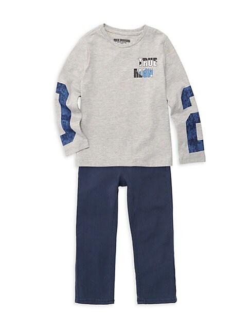 Little Boys 2Piece Long Sleeve Tee  Jeans Set