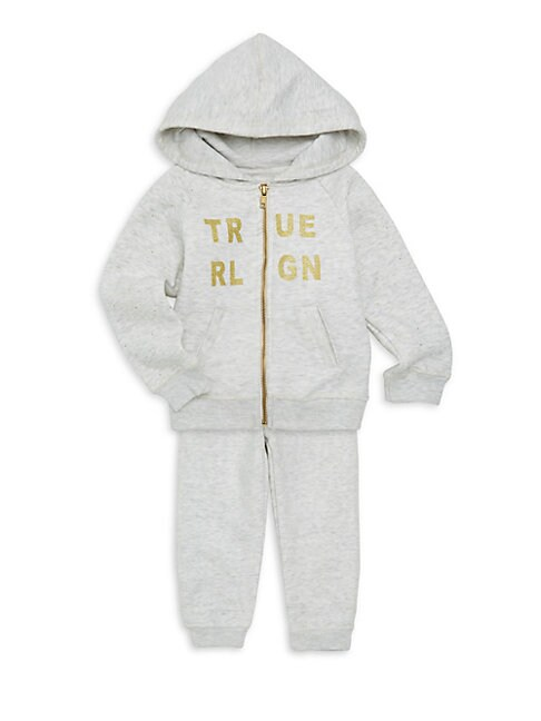 Little Girls 2Piece Logo Hoodie  Sweatpants Set