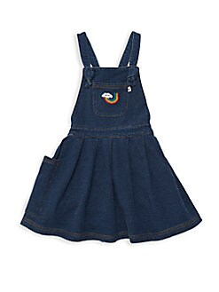 39cfa0d6c Little Girl's Diva Badges Pinafore Denim Dress DENIM. QUICK VIEW. Product  image