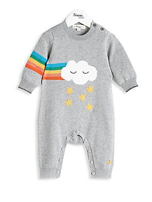 61cb5835a382 The Bonnie Mob - Baby Girl s Cotton   Cashmere Playsuit