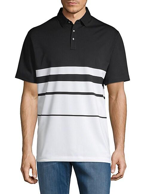 DEVEREUX | Colorblock Short-Sleeve Polo | Goxip