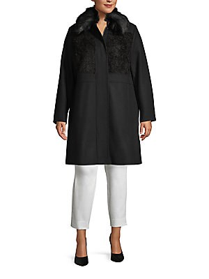 da5990a28e8 RACHEL Rachel Roy - Plus Faux Fur Long-Sleeve Coat - saksoff5th.com