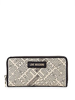 223297d731 Love Moschino - Logo Printed Canvas Wallet