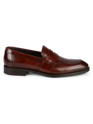 To Boot New York Loafers Devries Leather Penny Loafers