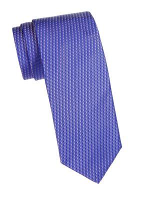 HUGO HUGO BOSS Printed Silk Slim Tie in Purple
