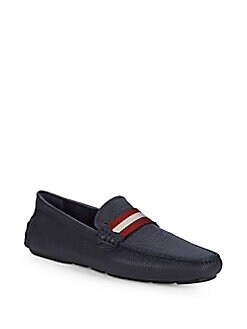 0938a4d32ee QUICK VIEW. Bally. Textured Leather Loafers