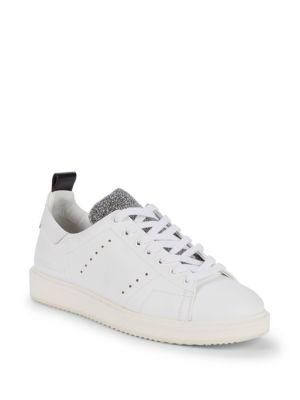 Swarovski Crystal Starter Low-Top Sneakers in White