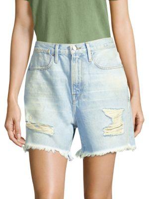 Denim Bermuda Shorts in Henley