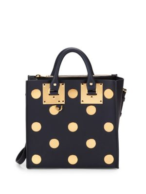 Sophie Hulme Dotted Leather Tote Satchel
