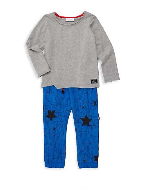 Little Boys Star Print 2Piece Tee  Jogger Set