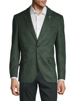 TAILORBYRD Stretch-Fit Notch Lapel Jacket in Forest