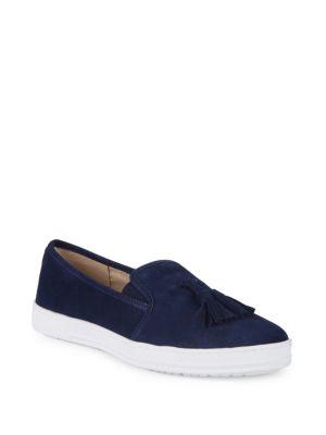 Anne Klein Zane Slip-On Suede Sneakers