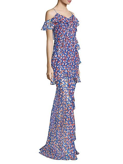 Amur Remi Silk-Blend Chiffon Gown