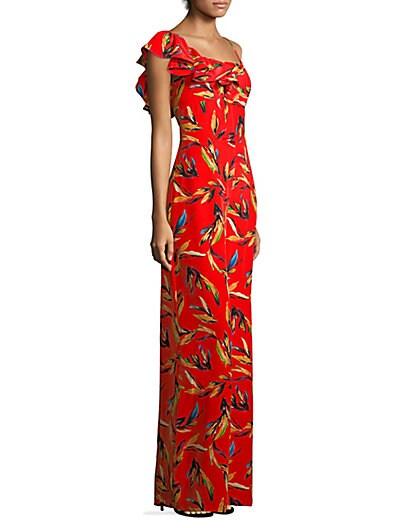 a170e67013e3 AMUR Brielle Floral Silk Jumpsuit ...