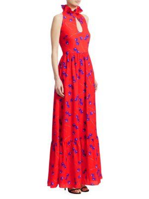 Borgo De Nor Leonora Sleeveless Keyhole Maxi Dress