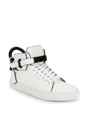 Buscemi High-Top Leather Sneakers